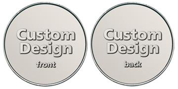 "Nickel Silver 1.000"" custom token"