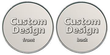 """Nickel Silver 1.000"""" custom token"""
