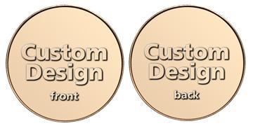 "Red Brass 1.125"" custom token"