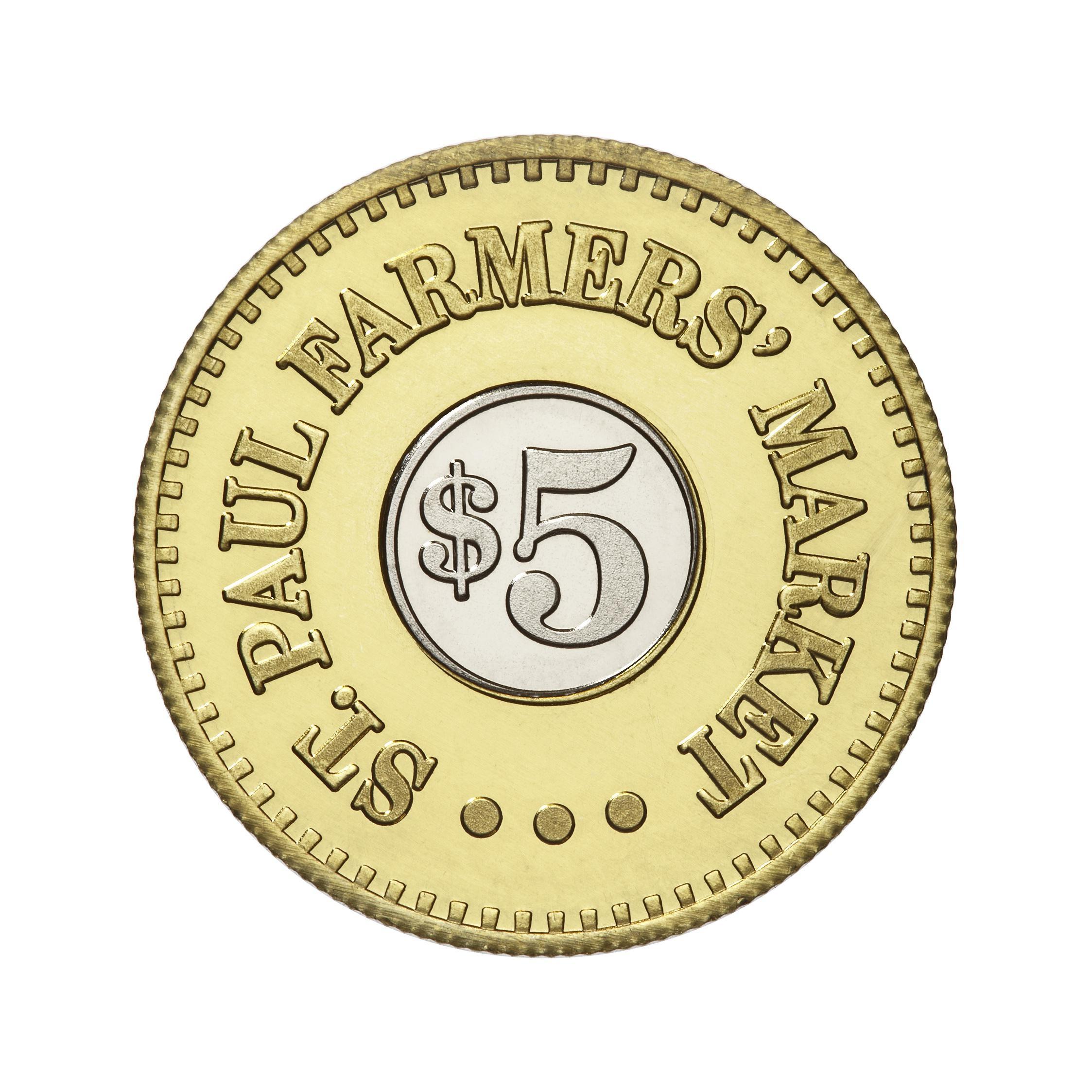 St Paul Farmer's Market custom token