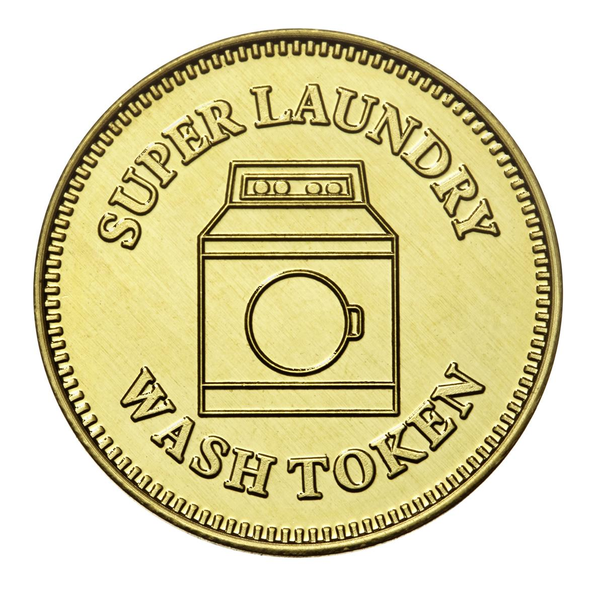 Custom brass laundry token