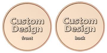 "Copper Plated Zinc 0.984"" custom token"