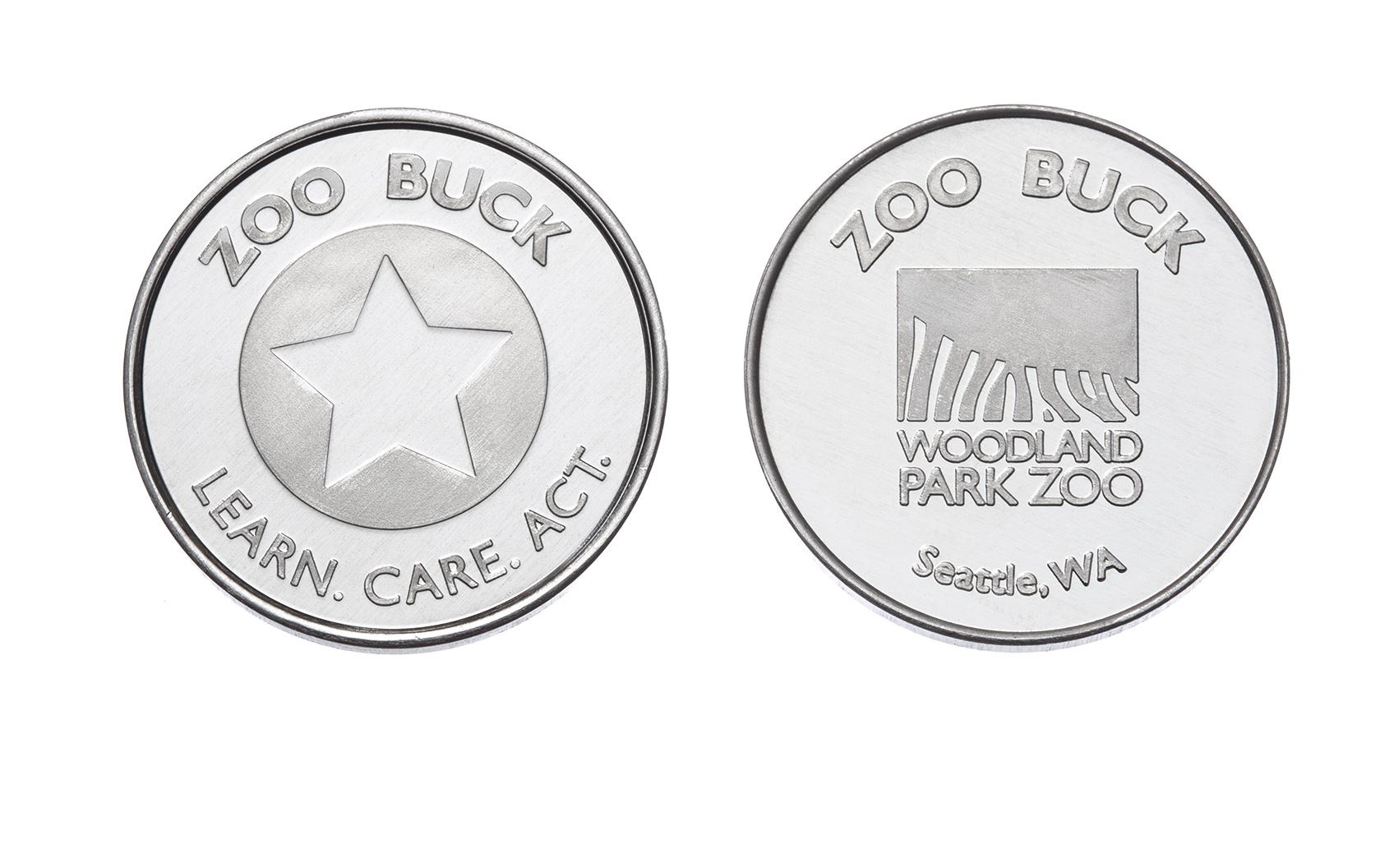 Zoo Bucks Custom Aluminum Tokens
