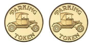 "Brass 0.880"" Parking Token/Parking Token stock token"