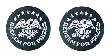 "Black Plastic 1.630"" Redeem for Prizes/Eagle Stars stock token"