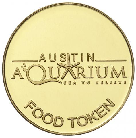 Austin Aquarium Animal Food Token
