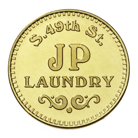 Custom laundry token