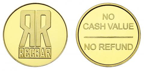 Rec Bar Custom Brass Tokens