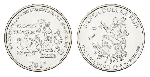 Silver Dollar Fair Commemorative Aluminum Tokens