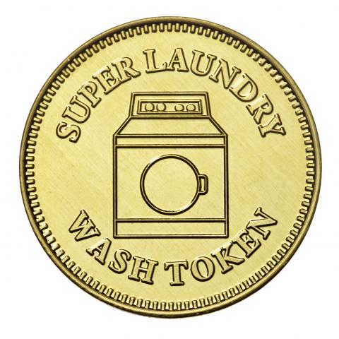 Custom brass laundry token