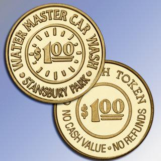Water Master Car Wash custom tokens
