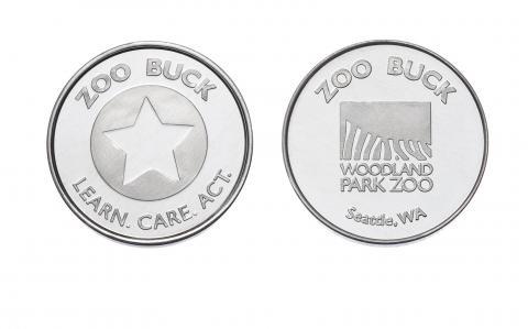Zoo Bucks Custom Aluminum Tokens